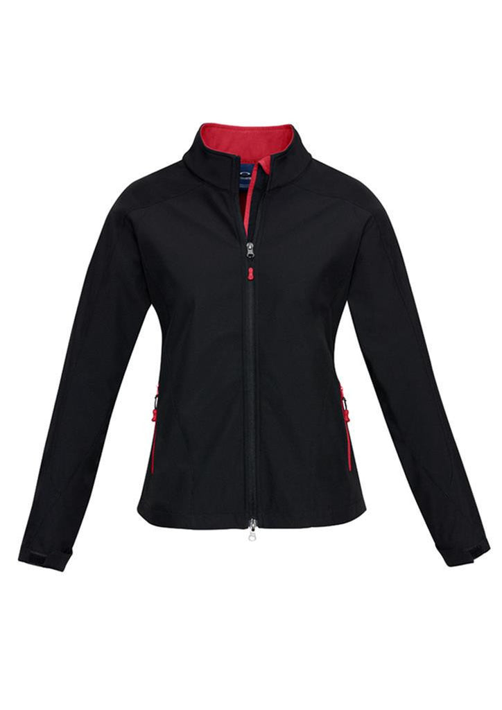 Biz Collection-Biz Collection Geneva Ladies Softshell-Black/Red / S-Uniform Wholesalers - 4