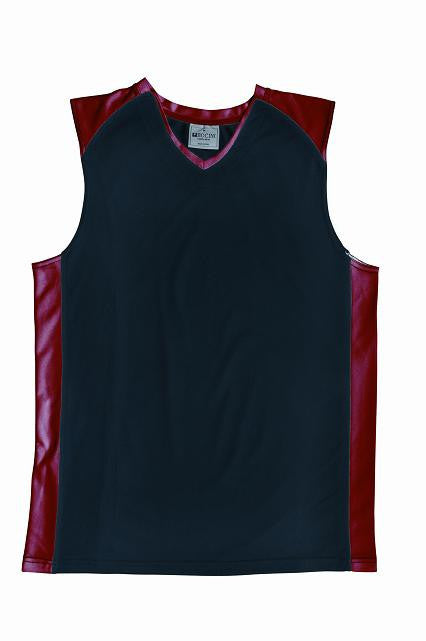 Bocini-Bocini Men's Basketball Singlet-Black/Red / S-Uniform Wholesalers - 2