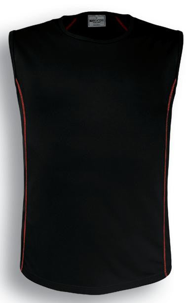 Bocini-Bocini Men's Stitch Body Tank 2nd (5 Colour)-Black/Red / S-Uniform Wholesalers - 2