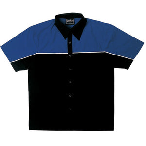 Bocini-Bocini Men's Motor Shirt-Black/Royal Blue / S-Uniform Wholesalers - 4