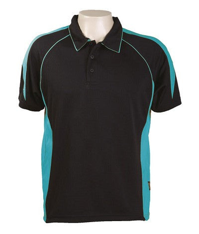 Australian Spirit-Aus Spirt Olympikool Mens Polo 1st ( 10 Colour )-Black / Teal / S-Uniform Wholesalers - 9