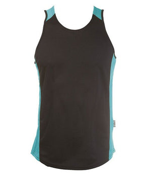 Australian Spirit-Aus Spirt Olympikool Mens Singlets 1st ( 10 Colour )-Black/Teal / S-Uniform Wholesalers - 7