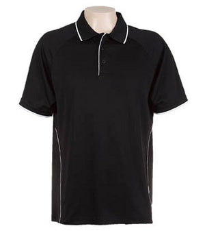 Australian Spirit-Aus Spirt Senator Mens Polo-Black / White / S-Uniform Wholesalers - 3