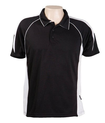 Australian Spirit-Aus Spirt Olympikool Mens Polo 1st ( 10 Colour )-Black / White / S-Uniform Wholesalers - 7