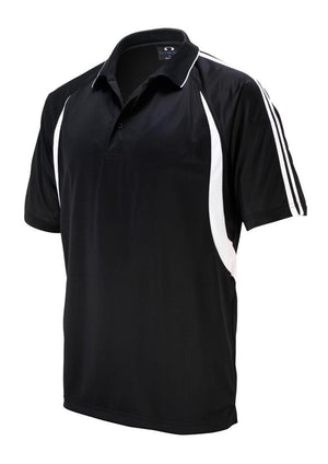 Biz Collection-Biz Collection Mens Flash Polo 1st (  9 Colour )-Black / White / Small-Uniform Wholesalers - 5