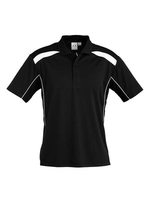 Biz Collection-Biz Collection Mens United Short Sleeve Polo 1st ( 11 Colour )-Black / White / Small-Uniform Wholesalers - 21