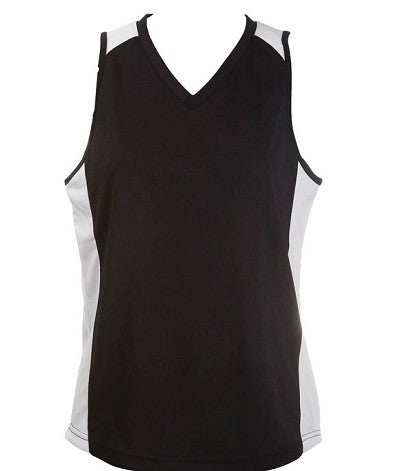 Australian Spirit-Aus Spirt Olympikool Ladies Singlet 1st ( 10 Colour )-Black / White / 8-Uniform Wholesalers - 8