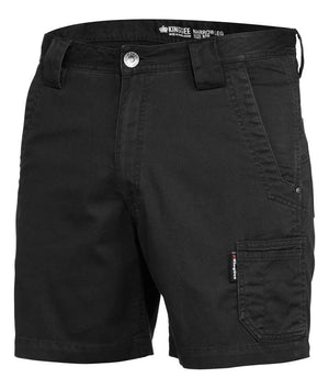 King Gee-King Gee Tradies Short Short-Black / 82R-Uniform Wholesalers - 1