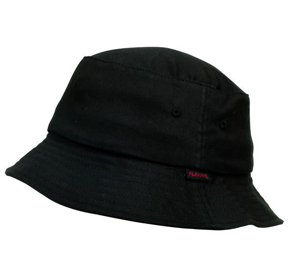 FLEXFIT-FLEXFIT Bucket Hat-Black / OSFA-Uniform Wholesalers - 1