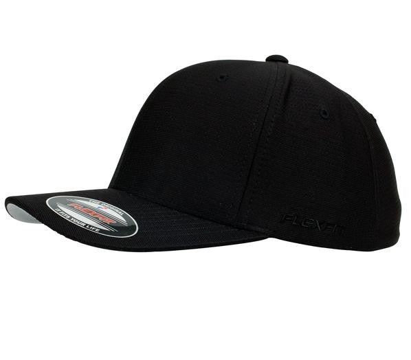 FLEXFIT-FLEXFIT Cool and Dry Cap-Black / S-M-Uniform Wholesalers - 1