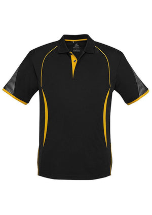 Biz Collection-Biz Collection  Mens Razor Polo-Black/Gold / S-Uniform Wholesalers - 7