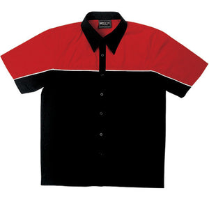 Bocini-Bocini Men's Motor Shirt-Black/Red / S-Uniform Wholesalers - 3