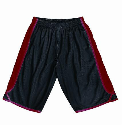 Bocini-Bocini Men's Basket Ball Shorts-Black/Red / S-Uniform Wholesalers - 2