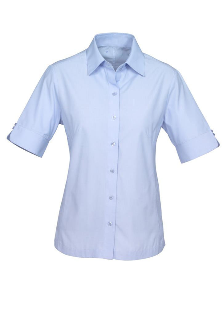 Biz Collection-Biz Collection Ladies Ambassador Shirt-3/4 Sleeve-Blue / 6-Uniform Wholesalers - 2