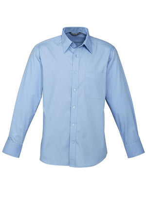 Biz Collection-Biz Collection Mens Base Long Sleeve Shirt-Blue / XS-Uniform Wholesalers - 3