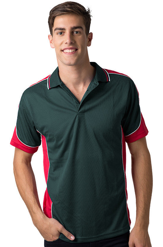 Be Seen-Be Seen Men's Polo Shirt With Striped Collar 2nd( 8 Color )-Bottle-Red-White / XS-Uniform Wholesalers - 2