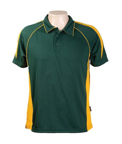 Australian Spirit-Aus Spirt Olympikool Mens Polo 1st ( 10 Colour )-Bottle green / Gold / S-Uniform Wholesalers - 4