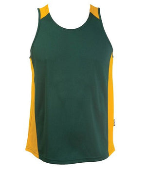 Australian Spirit-Aus Spirt Olympikool Mens Singlets 1st ( 10 Colour )-Bottle/Gold / S-Uniform Wholesalers - 9