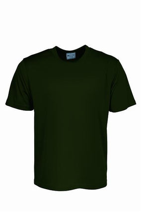 Bocini-Bocini Adults Plain Breezeway Micromesh Tee Shirt 1st (14 Colour)-Bottle Green / S-Uniform Wholesalers - 3