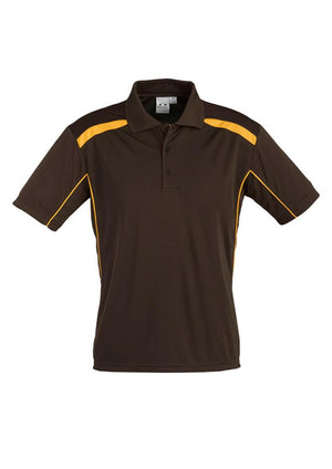 Biz Collection-Biz Collection Mens United Short Sleeve Polo 1st ( 11 Colour )-Brown / Gold / Small-Uniform Wholesalers - 22
