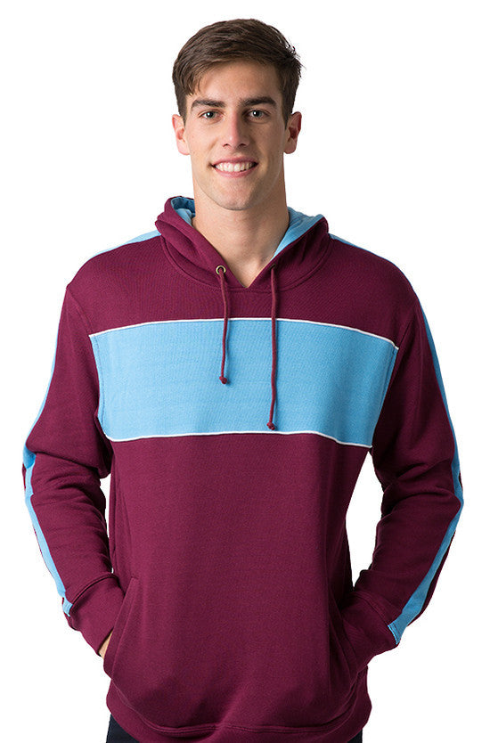 Be Seen-Be Seen Adults Three Toned Hoodie With Contrast-Burgundy-Sky-White / XS-Uniform Wholesalers - 16