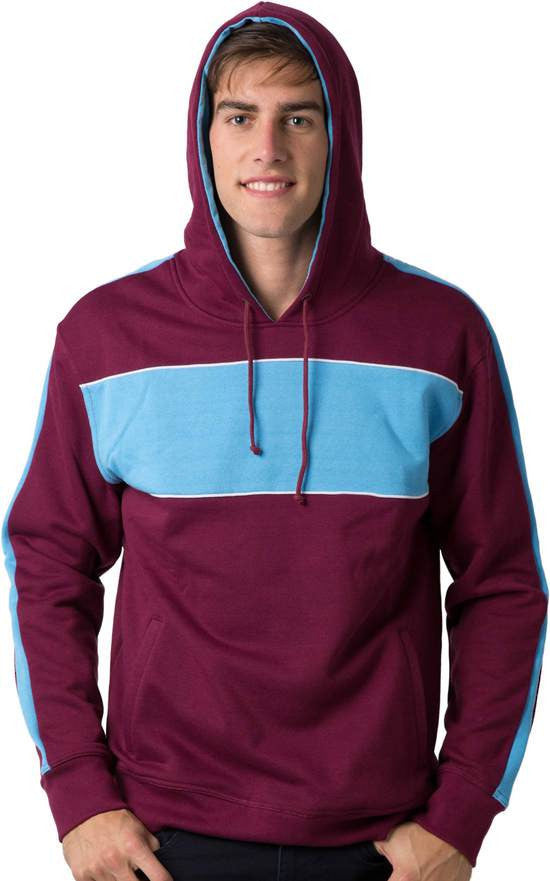 Be Seen-Be Seen Adults Three Toned Hoodie With Contrast--Uniform Wholesalers - 18