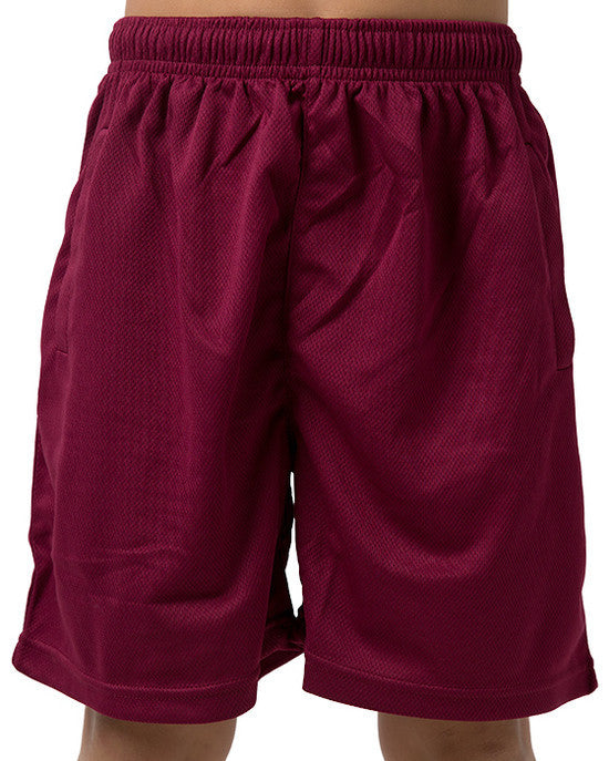 Be Seen-Be Seen Kids Plain Shorts With Elastic Waist-Burgundy / 4-Uniform Wholesalers - 2