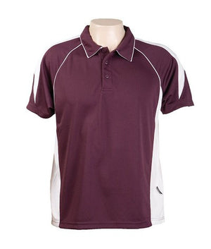 Australian Spirit-Aus Spirt Olympikool Mens Polo 1st ( 10 Colour )-Burgundy / White / S-Uniform Wholesalers - 5