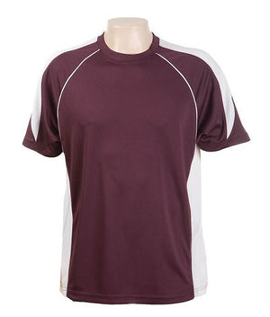 Australian Spirit-Aus Spirt Olympikool Tees 1st ( 10 Colour )-Burgundy / White / S-Uniform Wholesalers - 10