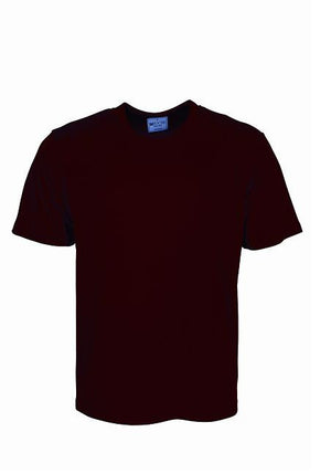 Bocini-Bocini Adults Plain Breezeway Micromesh Tee Shirt 1st (14 Colour)-Burgundy / S-Uniform Wholesalers - 4