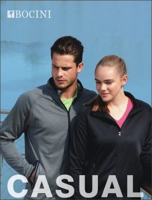 Bocini-Bocini Mens Light Weight Fleece Zip Jacket--Uniform Wholesalers - 1