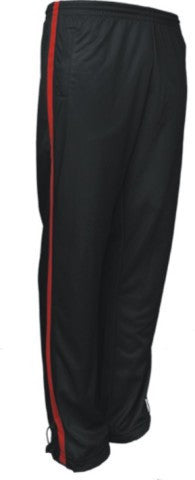 Bocini-Bocini Kids Elite Contrast Sports Pants-Black/Red / 6-Uniform Wholesalers - 1