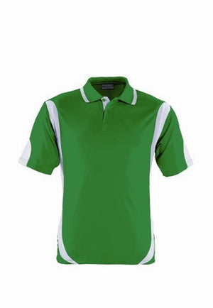 Bocini-Bocini Adults Breezeway Contrast Polo(1st 12 colors)-Emerald/White / S-Uniform Wholesalers - 13