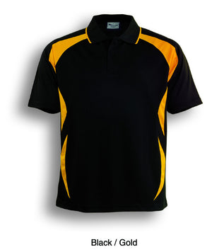 Bocini-Bocini Adults Breezeway Sports Polo 1st ( 10 Colour )-Black/Gold / S-Uniform Wholesalers - 2