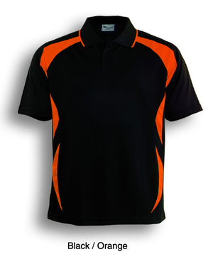 Bocini-Bocini Adults Breezeway Sports Polo 1st ( 10 Colour )-Black/Orange / S-Uniform Wholesalers - 3