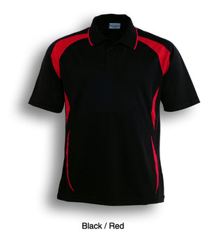 Bocini-Bocini Adults Breezeway Sports Polo 1st ( 10 Colour )-Black/Red / S-Uniform Wholesalers - 4