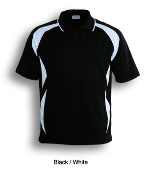 Bocini-Bocini Adults Breezeway Sports Polo 1st ( 10 Colour )-Black/White / S-Uniform Wholesalers - 5