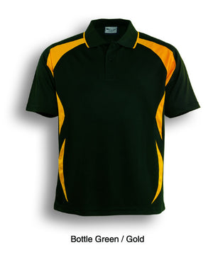 Bocini-Bocini Adults Breezeway Sports Polo 1st ( 10 Colour )-Bottle Green/Gold / S-Uniform Wholesalers - 6