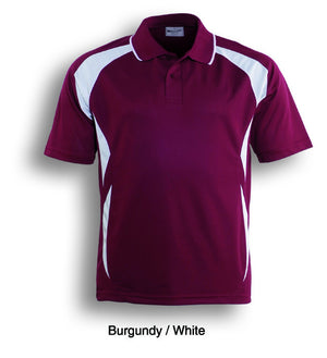 Bocini-Bocini Adults Breezeway Sports Polo 1st ( 10 Colour )-Burgundy/White / S-Uniform Wholesalers - 7