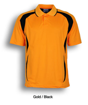 Bocini-Bocini Adults Breezeway Sports Polo 1st ( 10 Colour )-Gold/Black / S-Uniform Wholesalers - 8