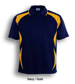 Bocini-Bocini Adults Breezeway Sports Polo 1st ( 10 Colour )-Navy/Gold / S-Uniform Wholesalers - 9