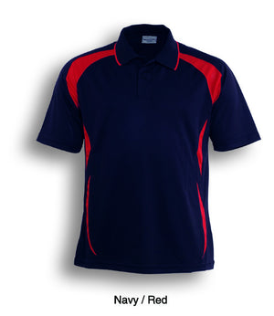Bocini-Bocini Adults Breezeway Sports Polo 1st ( 10 Colour )-Navy/Red / S-Uniform Wholesalers - 10