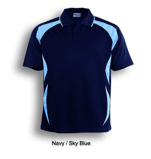 Bocini-Bocini Adults Breezeway Sports Polo 1st ( 10 Colour )-Navy/Sky Blue / S-Uniform Wholesalers - 11