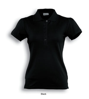 Bocini-Bocini Ladies Fashion Polo-Black / 8-Uniform Wholesalers - 2