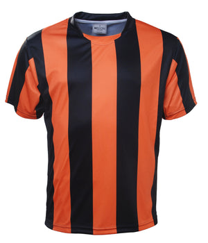 Bocini-Bocini Kids Sublimited Strips Tee-Black/Orange / 6-Uniform Wholesalers - 3