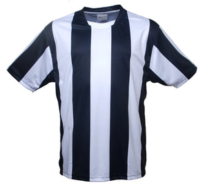 Bocini-Bocini Kids Sublimited Strips Tee-Black/White / 6-Uniform Wholesalers - 5