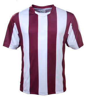 Bocini-Bocini Kids Sublimited Strips Tee-Maroon/White / 6-Uniform Wholesalers - 9