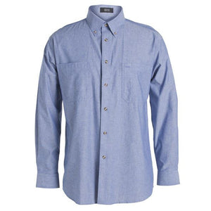 JB's Wear-JB's Cotton Chambray Shirt-S / Chambray Blue L/S-Uniform Wholesalers - 3