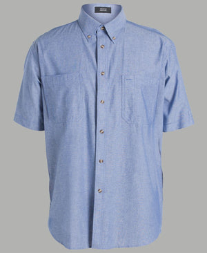 JB's Wear-JB's Cotton Chambray Shirt-S / Chambray Blue S/S-Uniform Wholesalers - 6