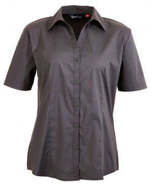 identitee-Identitee Ladies Rodeo Short Sleeve-Charcoal / 8-Uniform Wholesalers - 3
